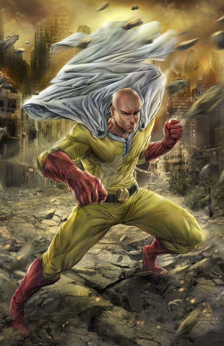 One Punch Man Saitama by christianamiel21.deviantart.com on @DeviantArt