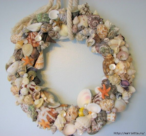 crafts made of seashells for the bathroom interior (1) (570x532, 160Kb)