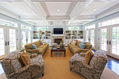 Family Room Addition - traditional - family room - st louis - Hibbs Homes, LLC