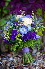 blue, purple, chartreuse wedding flowers - Google Search