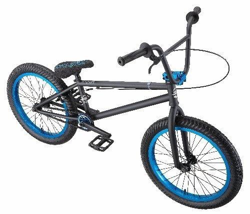 Eastern Bikes Chief BMX Bike (Matte Black with Blue, 20-Inch) by Eastern Bikes @ BicycleBMX.com