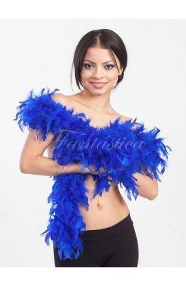 boas de plumas, boas baratas, boas de plumas de colores, boa azul - Tienda Esfantastica