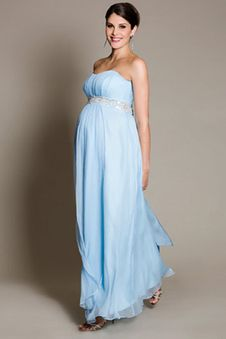 Robe cocktail longue grossesse