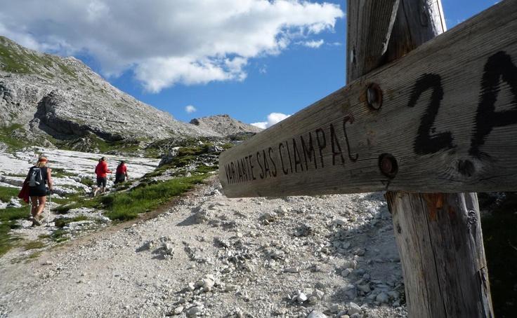 Outdoor sport and leisure time activities. Dolomiti Sas Ciampac