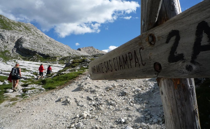 Outdoor sport and leisure time activities. Dolomiti Sas Ciampac
