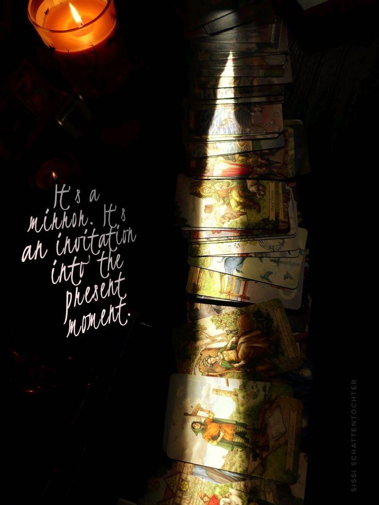 "Tarot - ""It's a mirror,"" she said. ""It's an invitation into the present moment."""