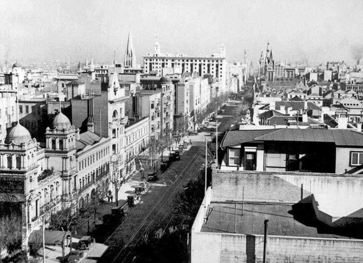Collins St, Melbourne, c1935