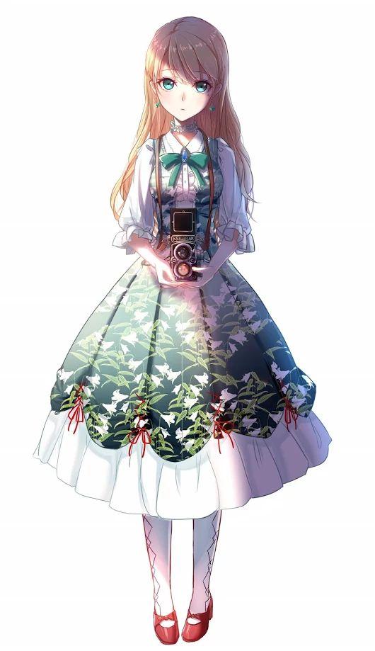 Девочка В Платье Арт