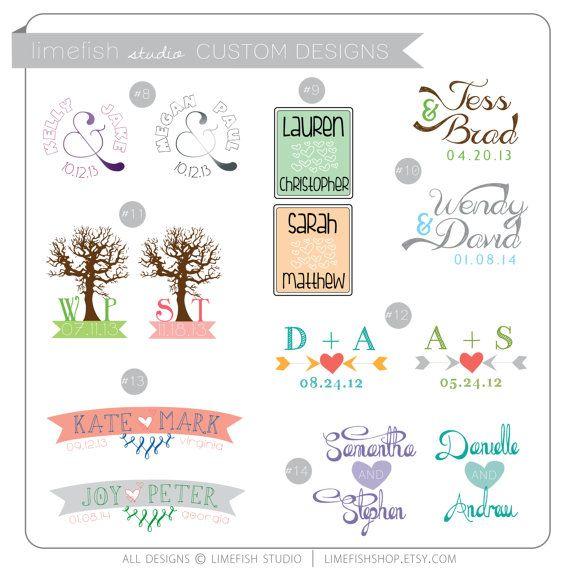 Custom Wedding Logo Design - Wedding Monograms by limefishshop on Etsy