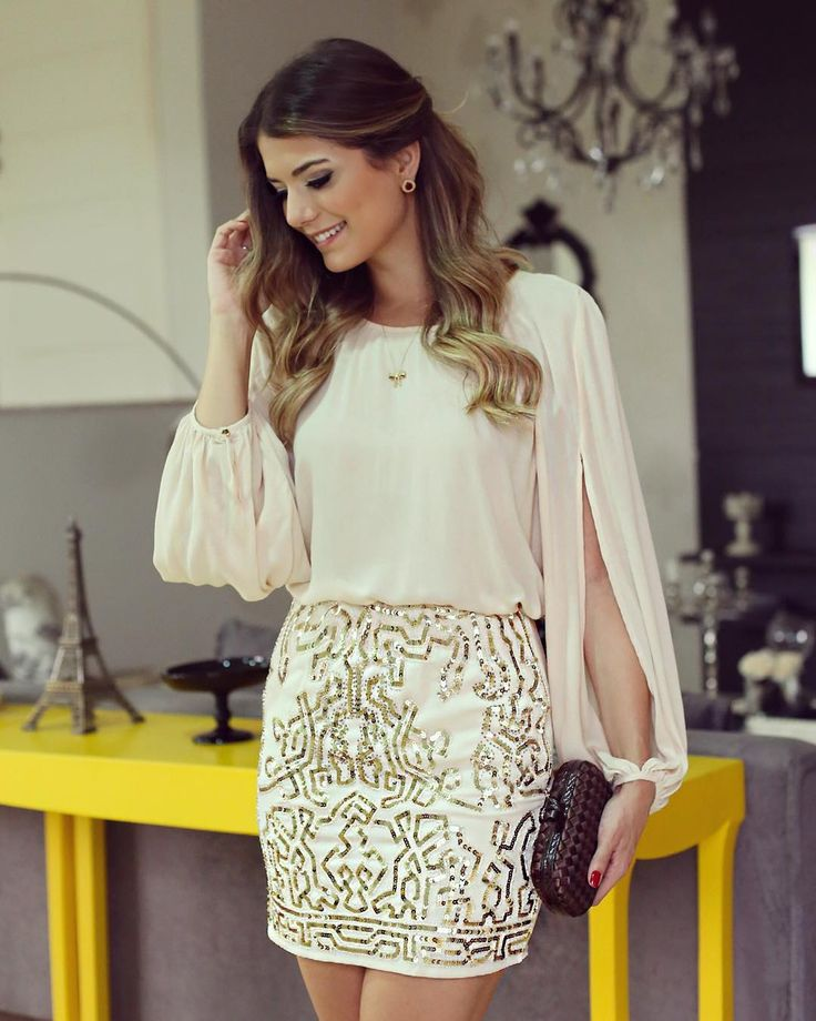 """""""{Shine} Look todo @averarafashion Muuuuito amor na coleção de saias bordadas da marca! Meu look favorito até agora ❤️ • #lancamentoaverara #verao16…"""""""
