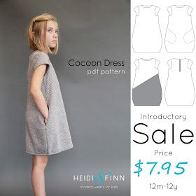After a little bit of a break - we have released our first (of a few) fall patterns  The Cocoon Dress    The cocoon dress is a simple, co...