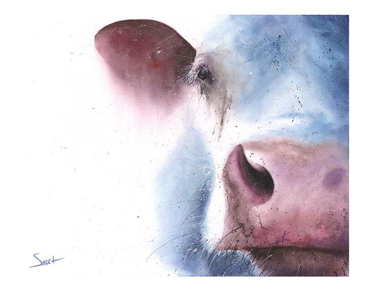 COW WATERCOLOR PRINT - farm wall decor, nursery wall art, cow art print, farm animal art, cow decor, farm decor, barn decor, cow gift by SignedSweet on Etsy https://www.etsy.com/uk/listing/168987848/cow-watercolor-print-farm-wall-decor