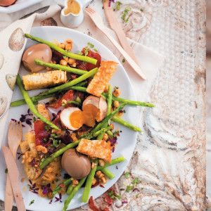 Marinated Egg and Asparagus Salad #Salad #Winter #Recipe #SouthAfrica
