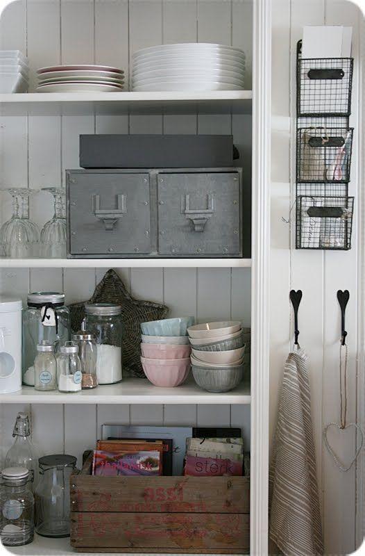 ***[storage]***metal drawers~wooden crates~wire basketsDecor, Kitchens Shelves, Kitchens Storage