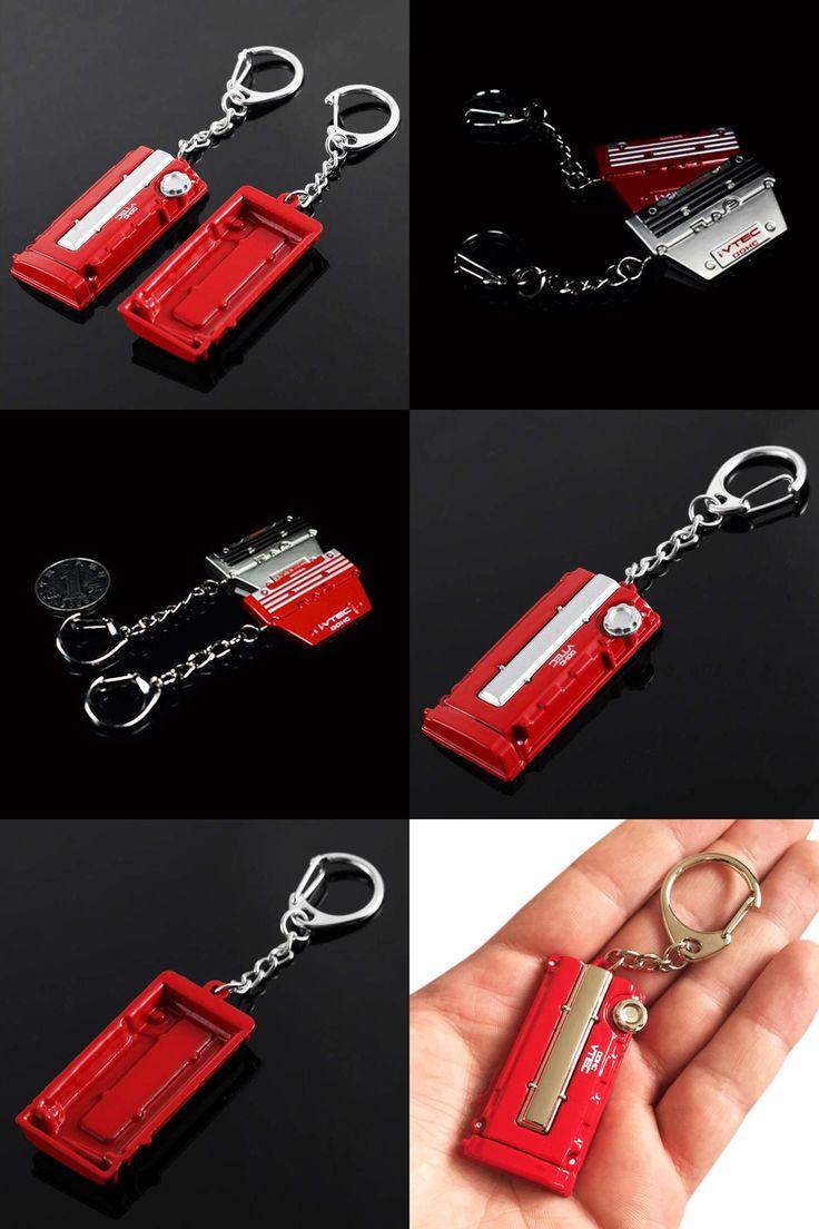 [Visit to Buy] OTOKIT Cool 3D Metal VTEC Engine Cover Car Keychain for HONDA CIVIC CRV FIT JAZZ HRV Accord 2003-2007 Car Keyring Key Chain Ring #Advertisement