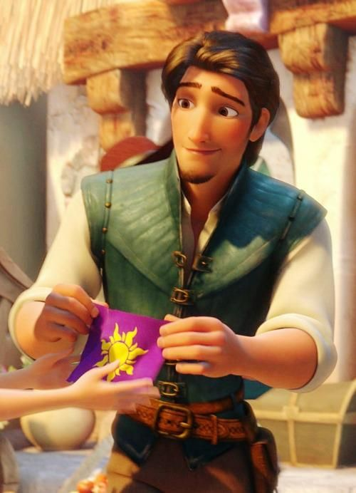 Look at his face. He is so excited to give her this little gift. He BOUGHT it just for her and you can see that he's almost nervous to give it to her. THIS is why Eugene is my favorite
