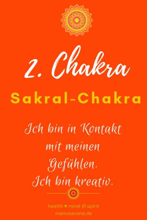 Affirmationen für das 2. CHAKRA