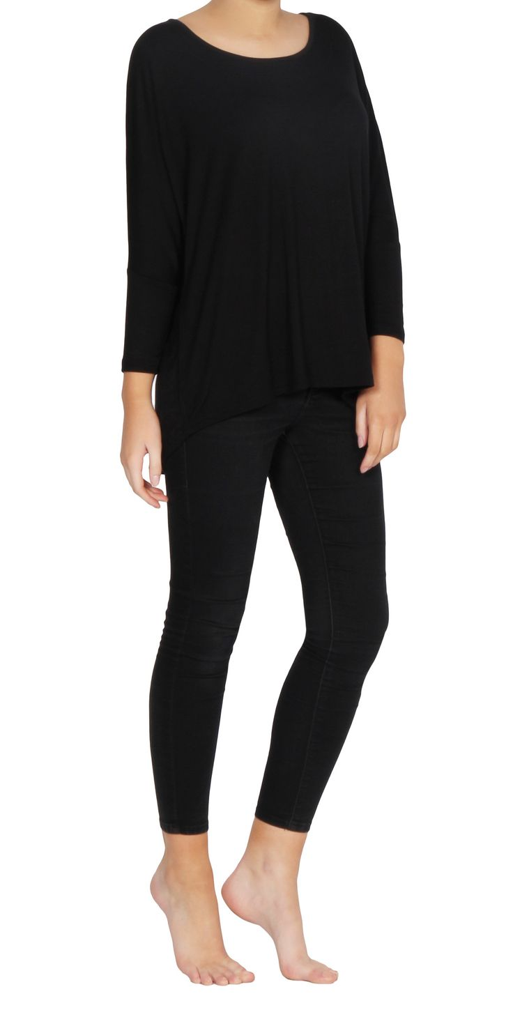 Betty Basics - Milan 3/4 Sleeve - Black