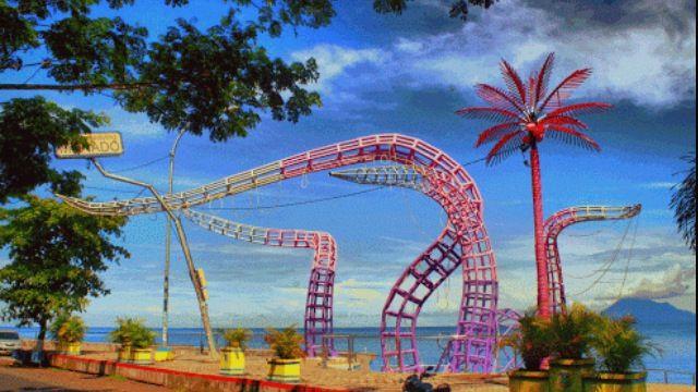 Gurita. Pantai malalayang