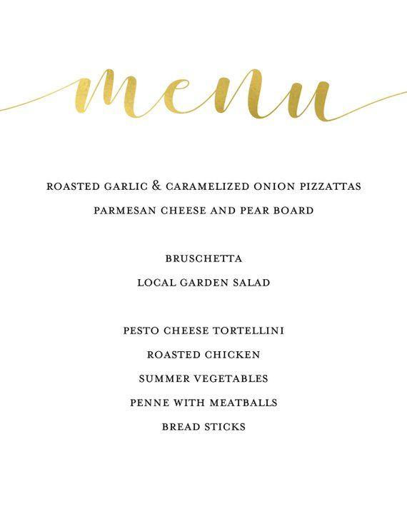 Hochzeit Menu Vorlage Hochzeit Menu Druckbare Hochzeit Menu Elegant Wedding Menu Summer Vegetable Menu Cards