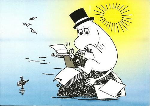 I need to write like moomin papa