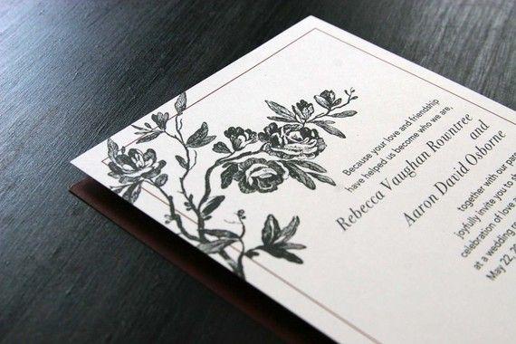 Vintage Romantic Wedding Invitations $5.00