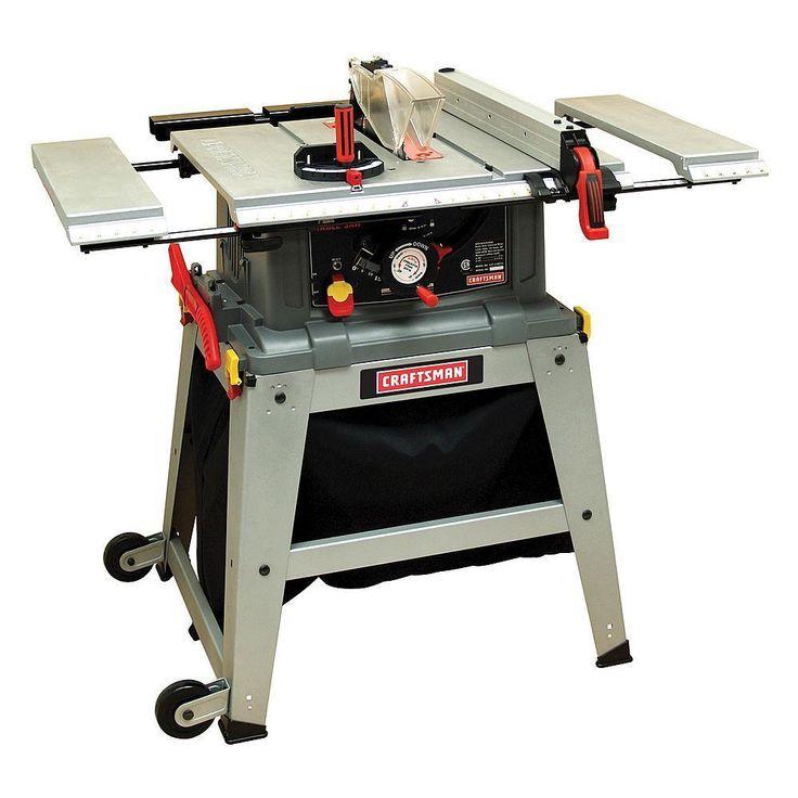 "Craftsman 10"" Table Saw Laser Trac Precision Speed Clean Cut Shop Garage Tools #Craftsman"