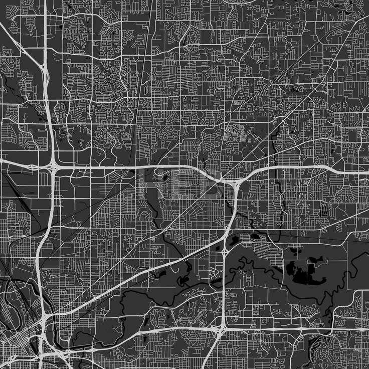 Map World Oil Reserves%0A North Richland Hills downtown and surroundings Map in dark version with  many details for high zoom