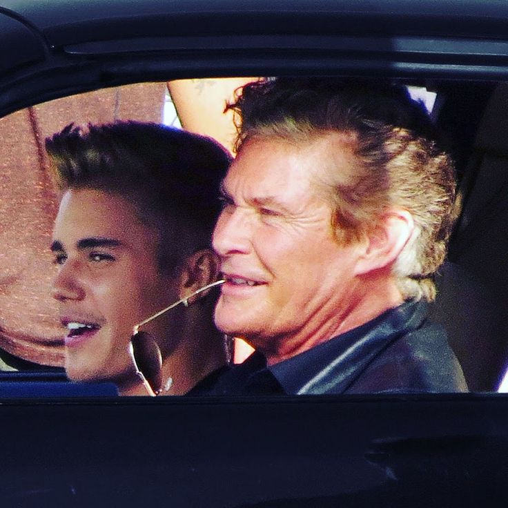 David Hasselhoff was pictured in the iconic Knightrider TransAm with superstar Justin Bieber when they both teamed up to shoot a comedy movie titled Killing Hasselhoff in Venice Beach, Los Angeles. The movie sees a struggling nightclub owner resort to desperate measures in order to pay off a loan shark. IMDB has Justin Bieber playing the iconic voice of K.I.T.T! See our website for all the pics © Atlantic Images