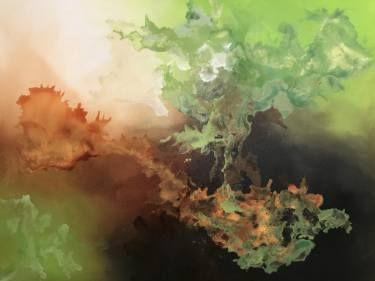 "Saatchi Art Artist Aria Dellcorta; Painting, ""Influence"" #art #abstract #saatchiart #new #energizers #fineart #painting #artforsale #academicart #originalart @ariadellcorta"