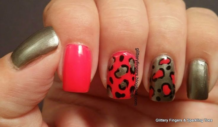 Glittery Fingers & Sparkling Toes: Neon Cheetah Print