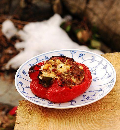 Фаршированные перцы – мясная начинка с сыром фета - Раня