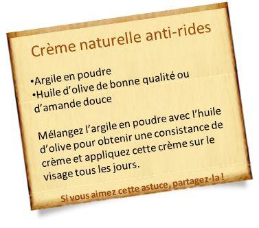 anti ride naturel argile