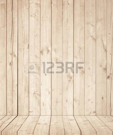 planken hout: Lichtbruine houten muur textuur met oude dennen, sparren vloer.