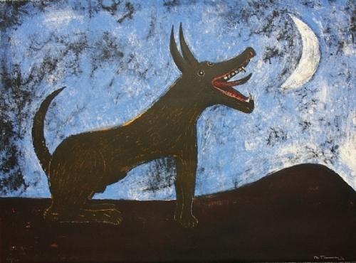 rufino tamayo.  perro de luna