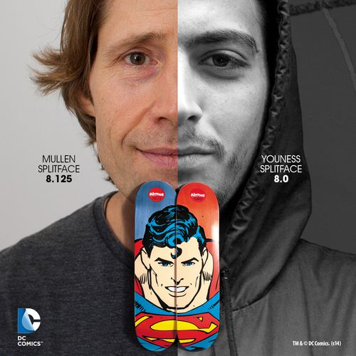 Almost_Skateboards_DC_Superhero_Split_Face_Series_Superman_Rodney_Mullen_Youness