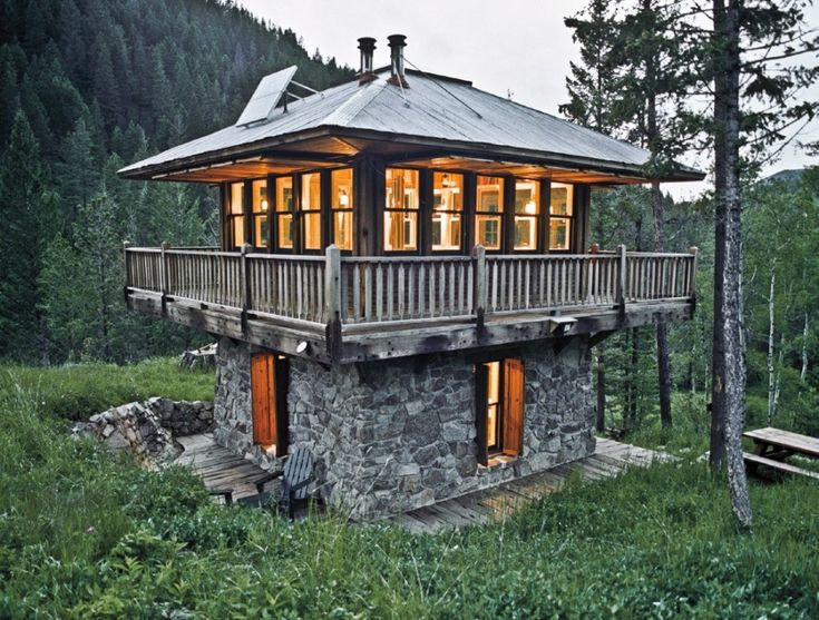 tiny house kits oregon sturdy design two floors of stone walls strong and visible views of the surrounding natural environment