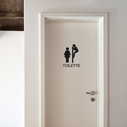 """symbole """"toilettes"""" détourné"""