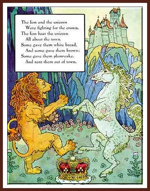 The Lion and the Unicorn. Illustration by Frederick Richardson.