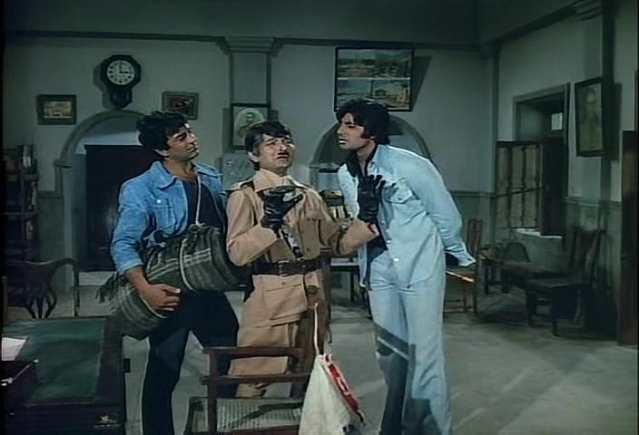 Can you come up with your own dialogue for this funny situation from #Sholay.