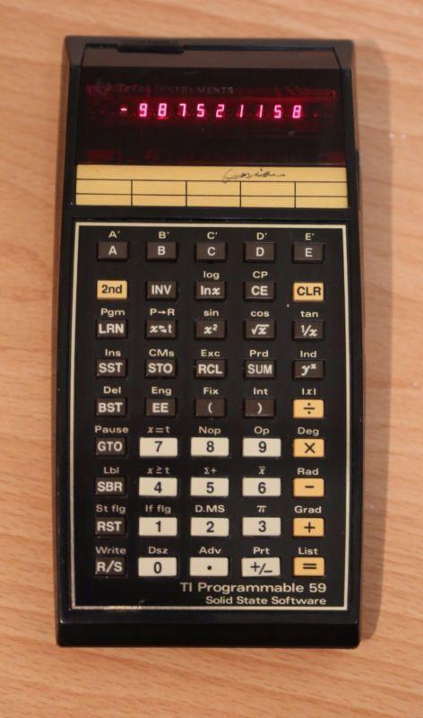 Texas Instruments TI-59 Programmable Calculator MODULE 2 - http://electronics.goshoppins.com/vintage-electronics/texas-instruments-ti-59-programmable-calculator-module-2/