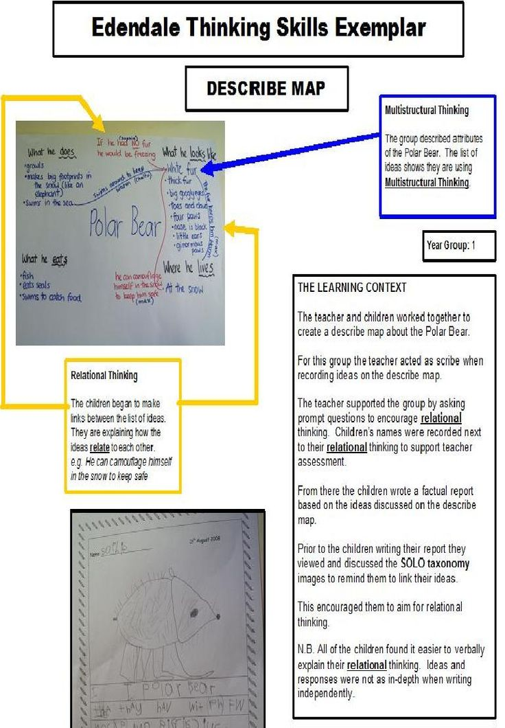 HOT SOLO Describe Map Exemplar from Edendale School Auckland NZ - Emma Watts  Twitter @emmerw