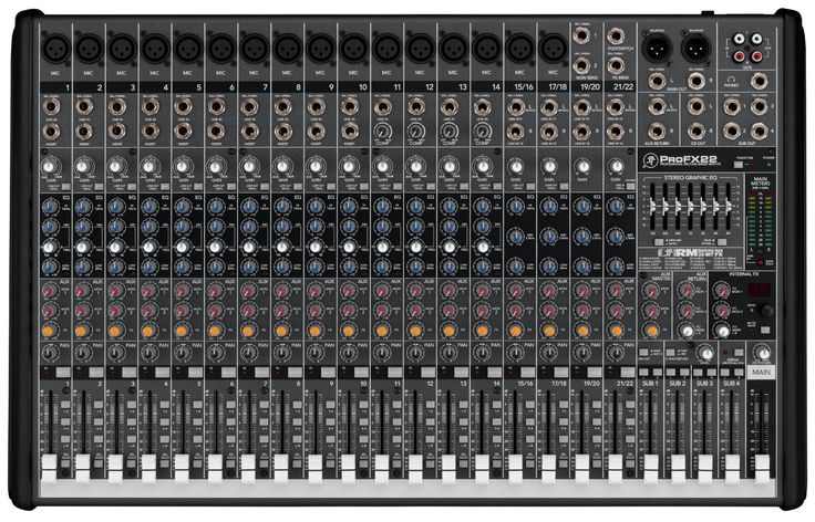 Mackie PROFX22 22-Channel Pro Audio Mixer | With FX and USB