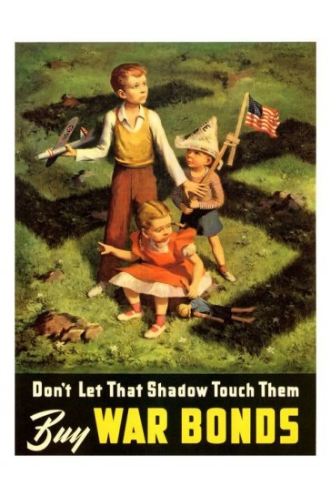Dont Let That Shadow Touch Them USA War Print 1942 £7.99