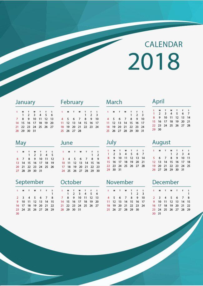 Green Business Winds 2018 Calendar Templates 2018 Calendar Template Desk Calendar Template Creative Calendar