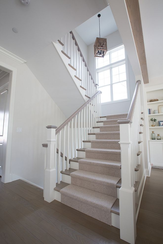 Best White Oak Staircase The Staircase Railings Were Stained To 400 x 300