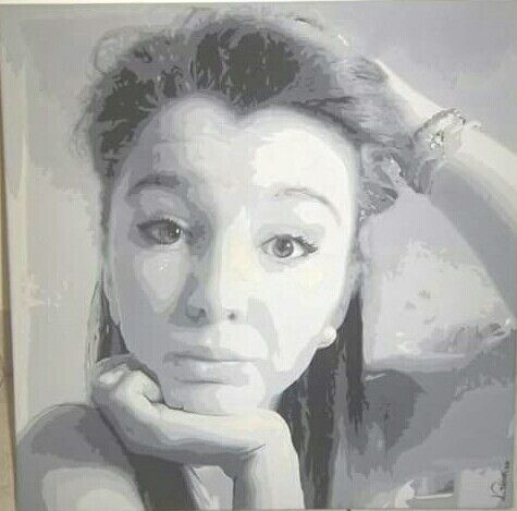 #Portrait #Friend #blackandwhite #art #paintbrushes #canvas