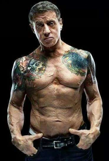 69 years old Sylvester Stallone.