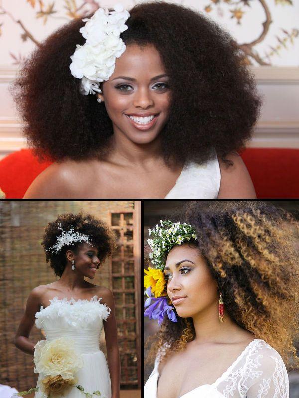 natural kinky hair bridal hairstyles for summer wedding