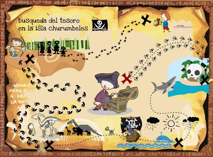Nos convertimos en piratas y buscamos el tesoro escondido mientras desarrollamos nuestras destrezas visuales, táctiles y motrices.